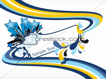 abstract funky vector background for text3