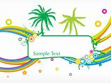 abstract summer background with sample text
