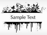 flourish and grunge elements for sample text, design4