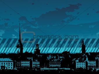 grunge city background, wallpaper
