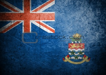 flag of Cayman island on old wall background, vector wallpaper