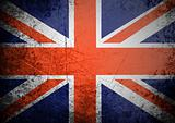 flag of Great Britain on old wall background, vector wallpaper