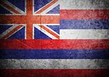 flag of Hawaii on old wall background, vector wallpaper