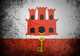 flag of on Gibraltar old wall background, vector wallpaper