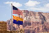 Flag USA and Arizona
