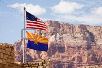Flag USA and Arizona