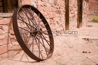 Cartwheel at a stone wall