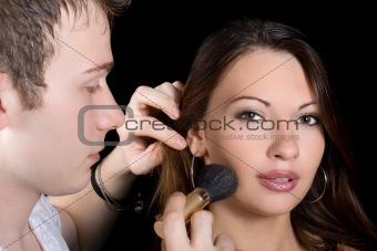 Make up. Isolated on black background