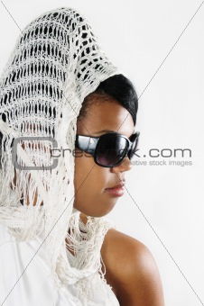 African beauty wearing sunglasses