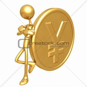 Attitude Lean Gold Yen Coin