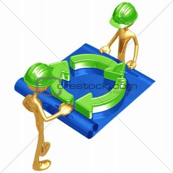 Green Construction Building Blueprint