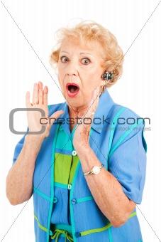 Cellphone Senior Woman - Gossip