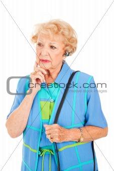 Cellphone Senior Woman - Worried