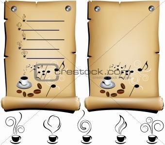 coffee restaurant menu