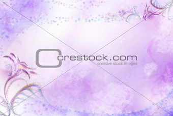Background with patterns and flowers-3