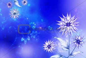 Blue asters background