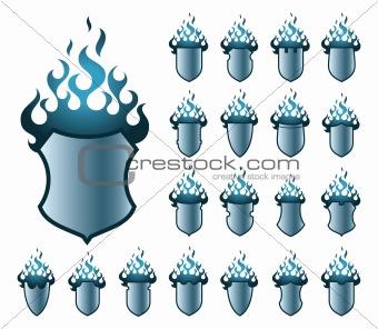 flameshields blue pattern