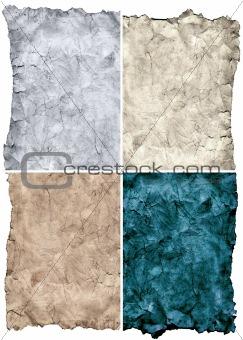 Old paper grunge textures set