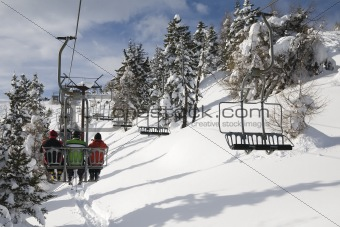 ski-lift in italian dolomites
