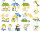 Vector detailed insurance icons