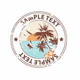 Holiday On The Beach Vintage Summer Emblem