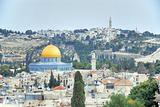 Panorama of Mount of Olives.