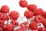 fresh raspberries in water isoalted