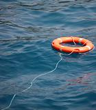 Lifebuoy on the water