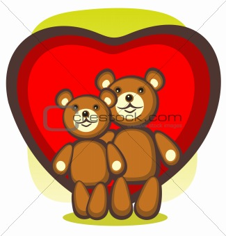 bears and heart