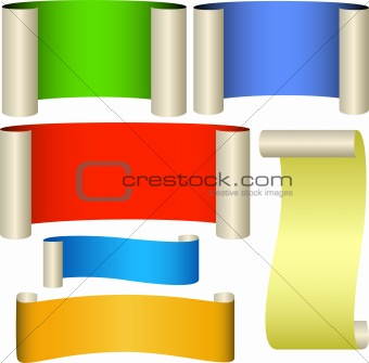 Five color banners