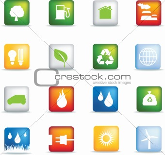 Eco icons square