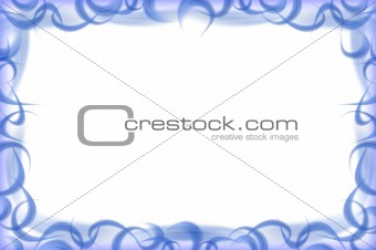 Abstract white -  blue feathers frame
