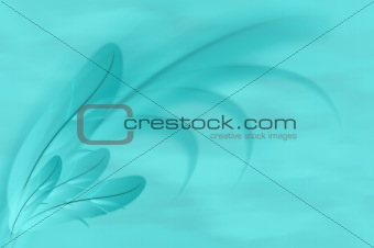 Abstract blue feathers illustration background
