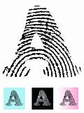 Fingerprint Alphabet Letter A