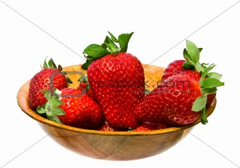 bowl strawberry isolated