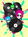 funky vinyl graphics