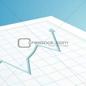 business graph arrow