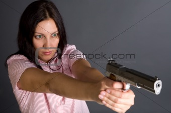 Gun and girl
