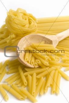 pasta in wooden
