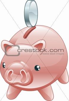 Savings Cute shiny piggy bank