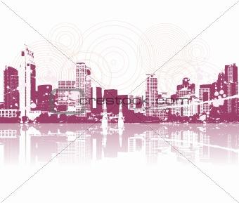 Cityscape silhouette black for your design