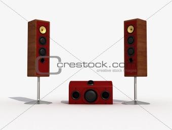 audio speaker and sub-woofer