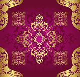 Antique ottoman wallpaper illustration design