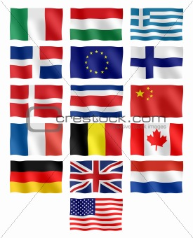 Flag of different countries