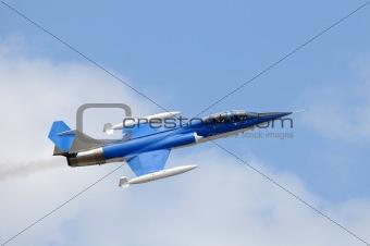 Blue jetfighter