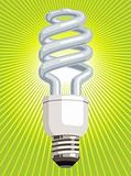 CFL Light Bulb with green background