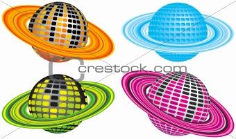 Four Disco Planets