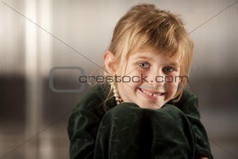 Cute young girl with big eyes