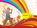 abstract funky vector background for text33