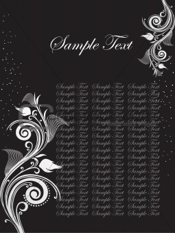 floral sample text background series design31